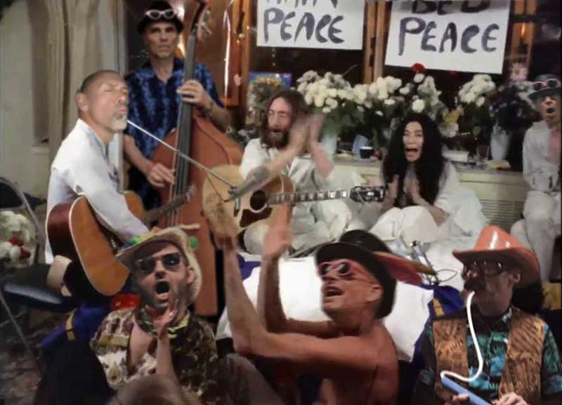 The Magnificent Kevens BedPeace with John and Yoko image